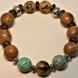 bracelet coco et turquoise