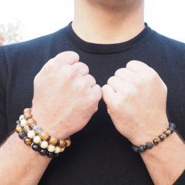 bracelet homme nature boisée