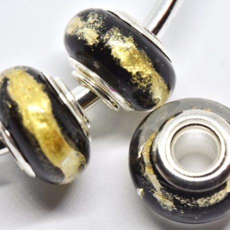 perles rondes or noir