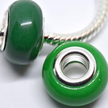 perles rondes mates jade profond