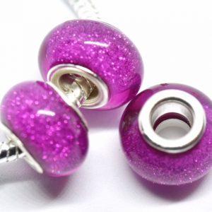 Perles rondes violine brillante