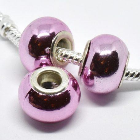 Rose violine effet de métal