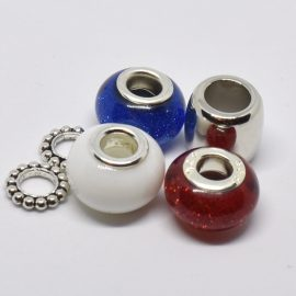 roue métal et bleu,blanc,rouge