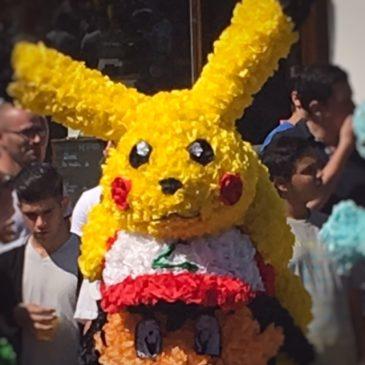 pikachu à la fête des fleurs