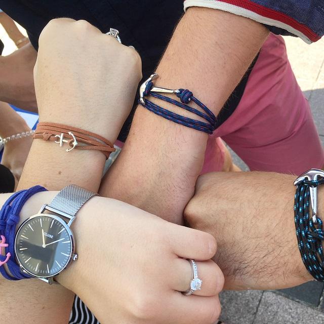 bracelet ancre marin