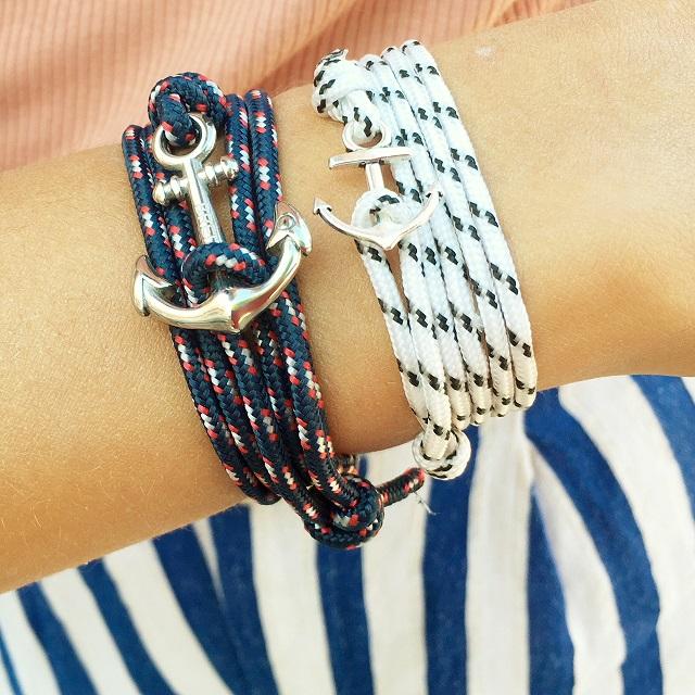 bracelets marins avec ancre de bretagne
