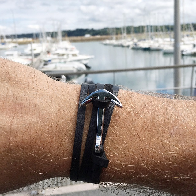 bracelet marin et breton