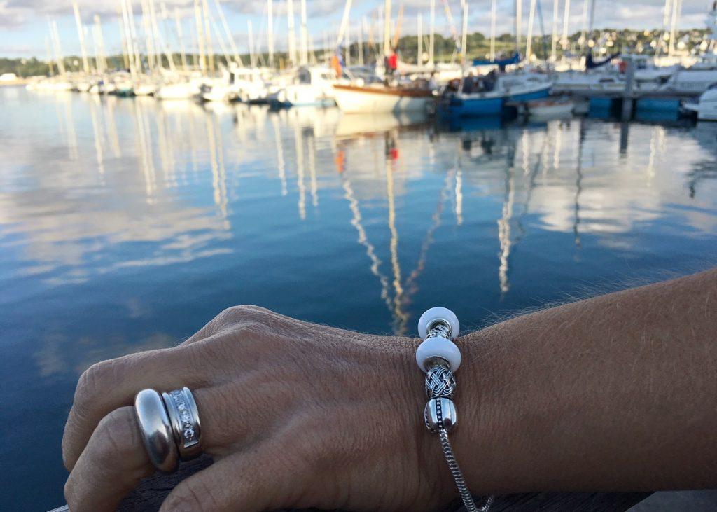 de grandes perles pour un bracelet so chic!