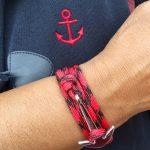 ancre acier de Bretagne en rouge et noir