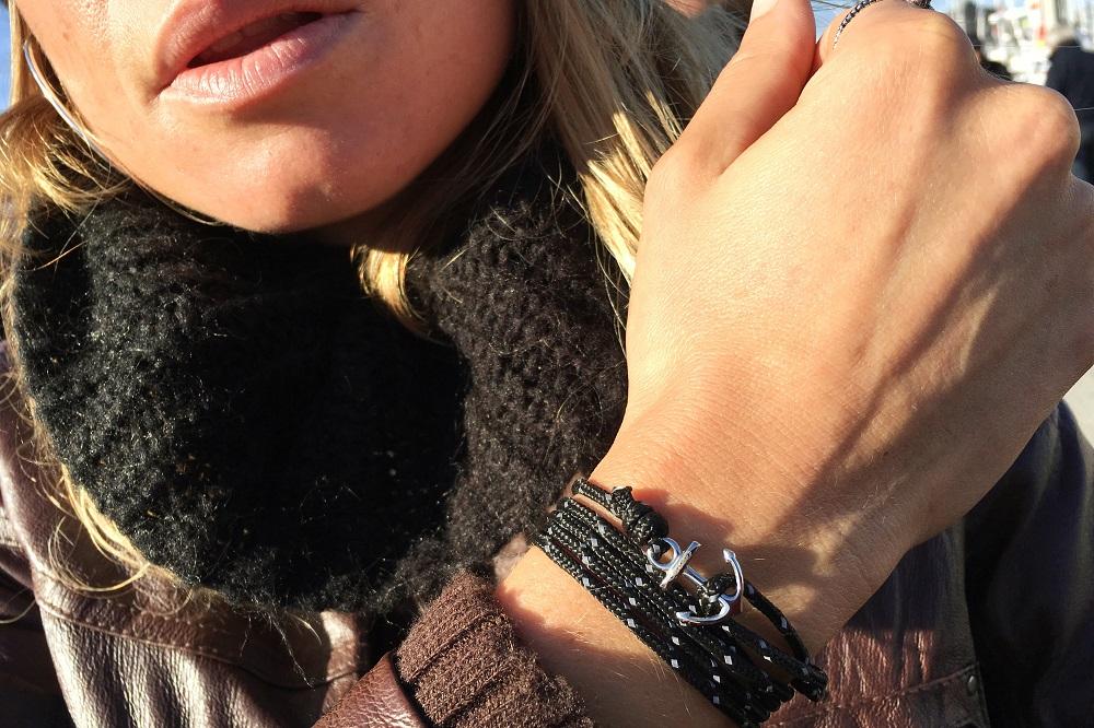 bracelet breton avec ancre acier breizh
