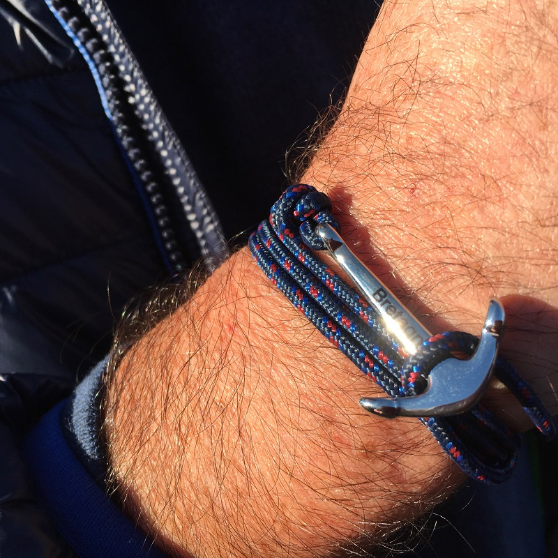 bracelet breton avec ancre acier bretagne