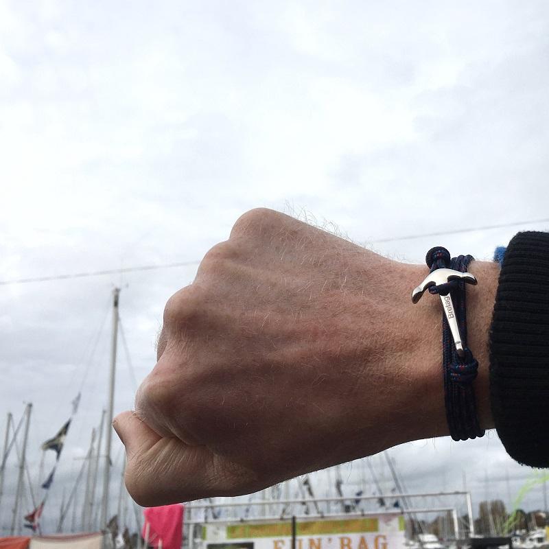 bracelet breton avec ancre de bretagne