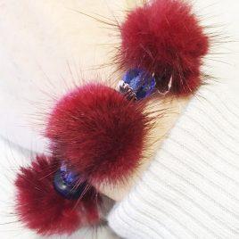 bracelet pompons de fourrure