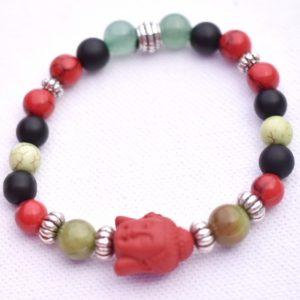 buddha rouge et vert de jade