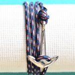 bracelet marin avec ancre acier bretagne