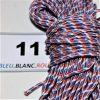 11.corde de bateau bleu-blanc-rouge pour petite ancre
