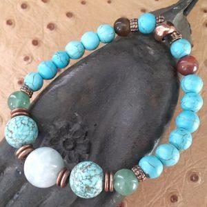 jade et turquoise bracelet porte-bonheur