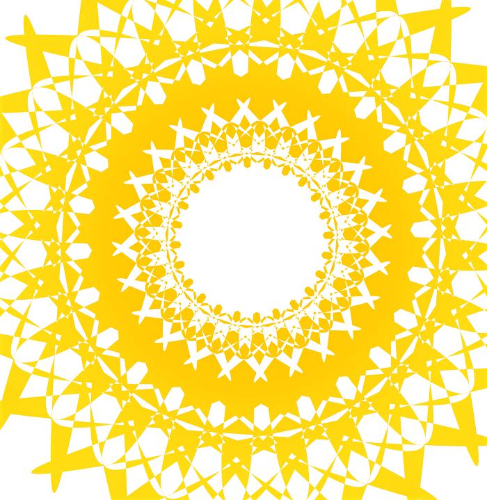 couleur jaune soleil de chakra et bonheur