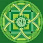 couleur verte de chakra et bonheur