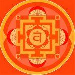 couleur rouge et orange de chakra et bonheur