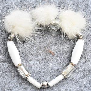 fourrure, vison et murano couleur blanche hermine
