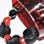 vison noir et cristal