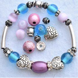 bracelet de princesse de coeur argent