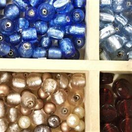 perle de verre argentée