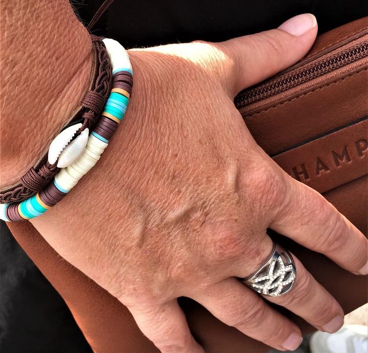 fashion bracelet turquoise et coquillage