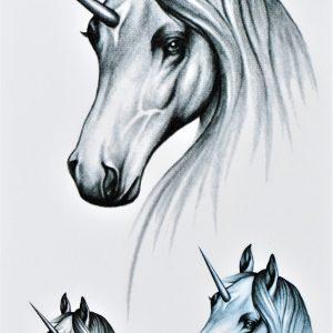 licorne en tatouage éphémère