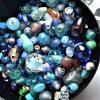 des perles bleues pour creation