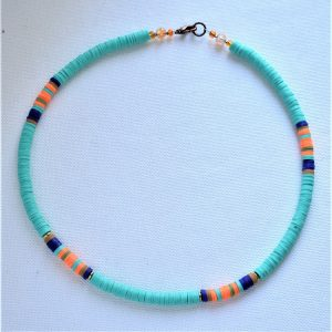 mandarine bleu en collier