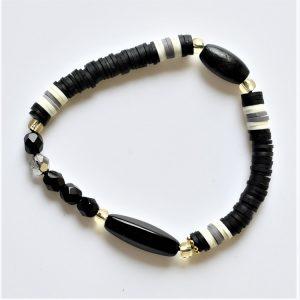 cristal black et rondelles japonaises
