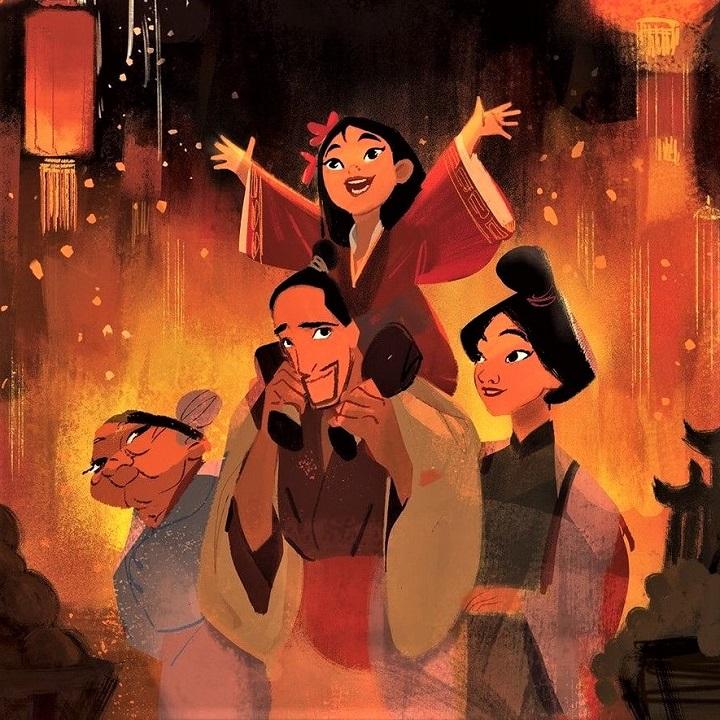 Inspiration avec Mulan héroine de Disney