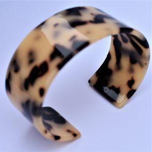 bracelet manchette léopard