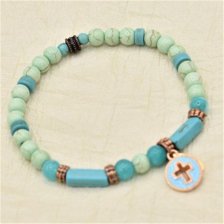 croix bleue pour joli bracelet