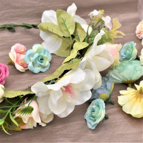 églantines en couronne de fleurs