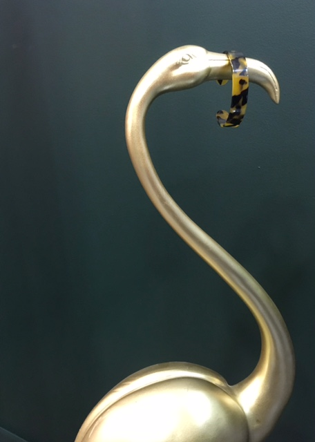 leopard en bracelet de resine